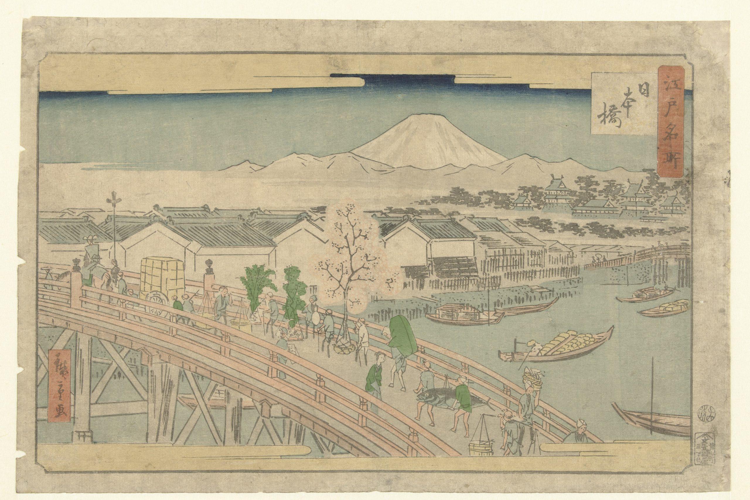 Nihonbashi Tokyo - print uit Rijksmuseum